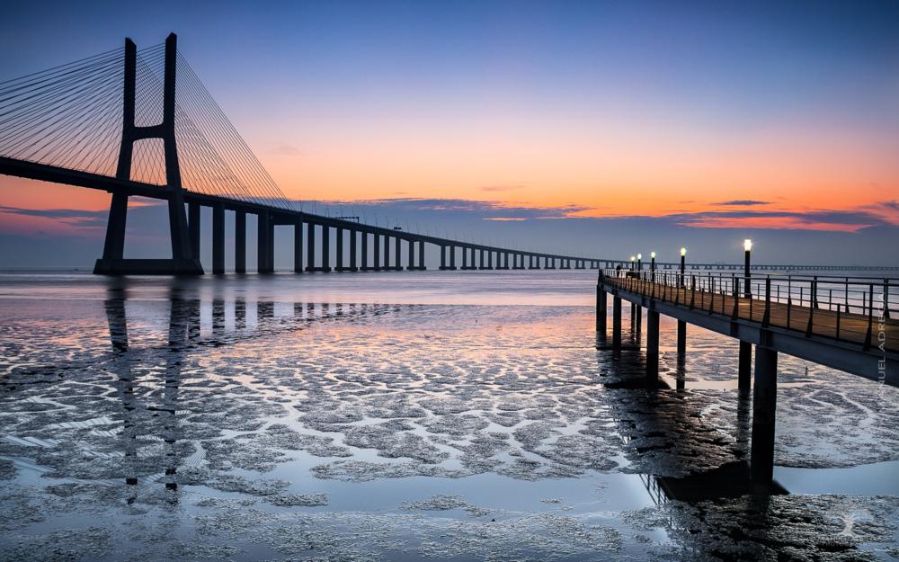 Vasco da Gama Bridge Imposing Manuel Adrega